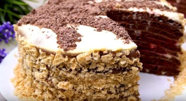 Простой новогодний торт на сковороде фото