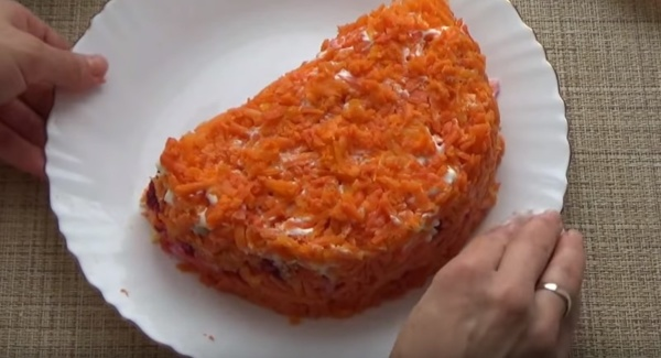 салат апельсин слои 2