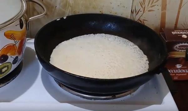 блины на молоке 4 обжариваем блины