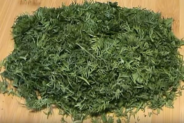 рулетики из лаваша 1 зелень
