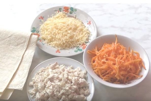 рулетики из лаваша 5 подготавливаем продукты