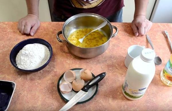 блины с творогом 4 яйца
