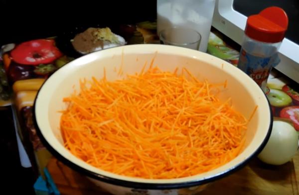 морковь по-корейски 2 трём морковь