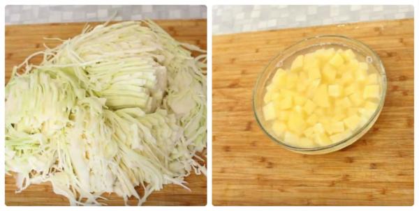 борщ с фасолью 3 капуста и картофель