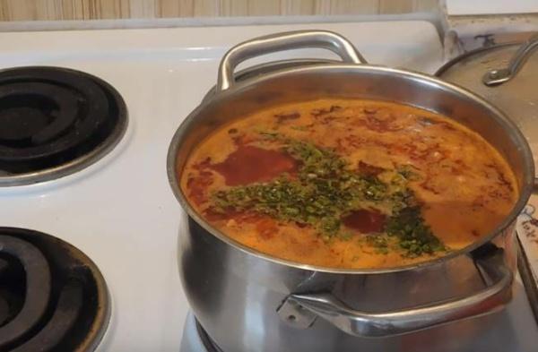 борщ с фасолью 5 готовый борщ