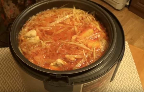 борщ с фасолью 6 готовый борщ