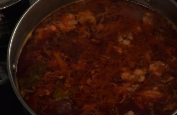 борщ с фасолью 7 готовый суп