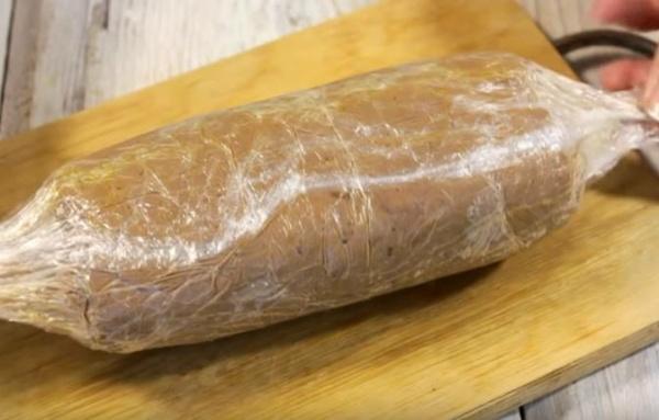 куриный печеночный паштет 3 колбаска