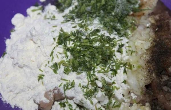 оладьи из печени курицы 3 зелень