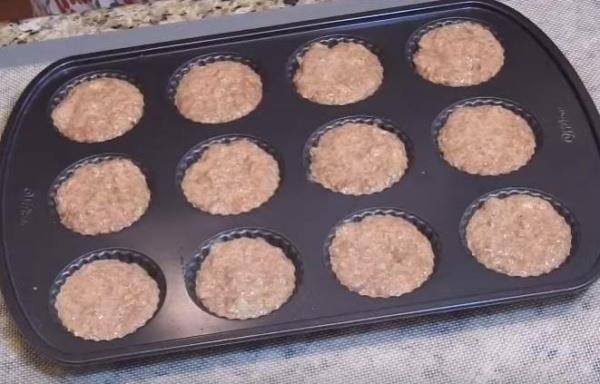 оладьи из печени курицы 4 раскладываем в форму