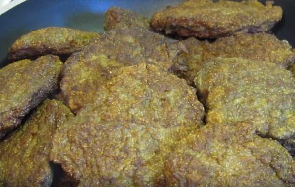 оладьи из печени курицы 5 пропариваем