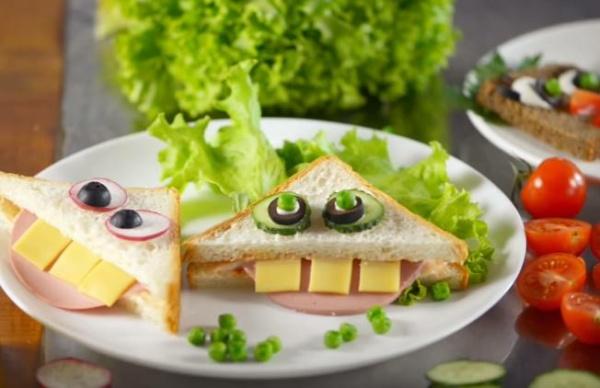 сендвичи смешные рожицы