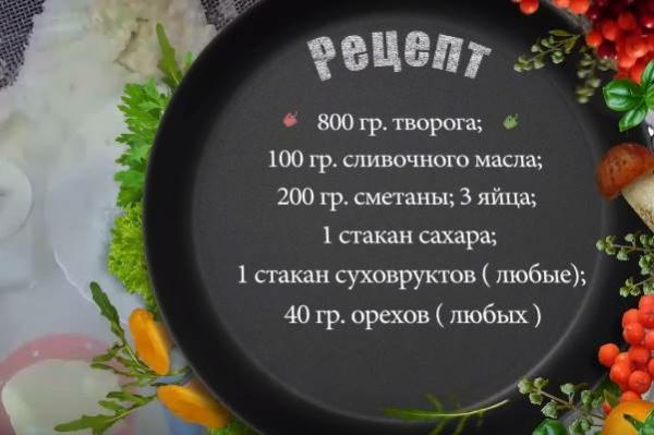 заварная пасха 1 ингредиенты