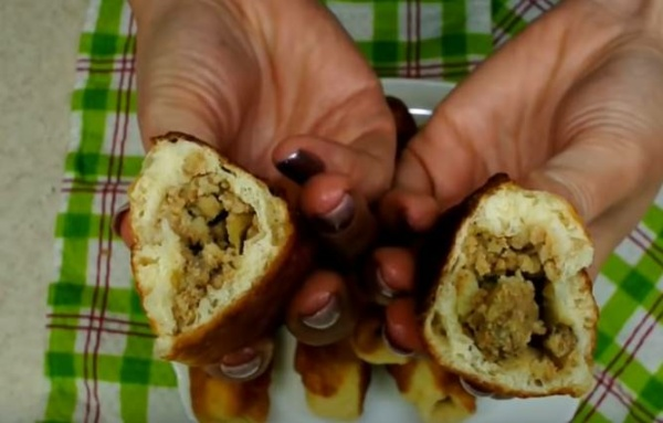 пирожки с картошкой 2 пирожок в разрезе