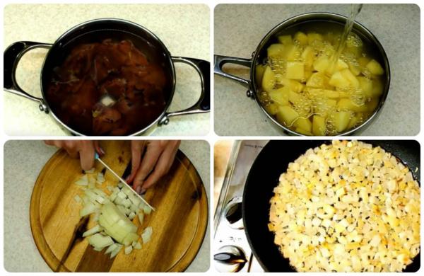 пирожки с картошкой 2 подготавливаем продукты