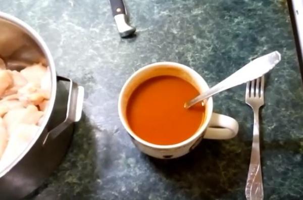 шашлык из курицы 1 соус