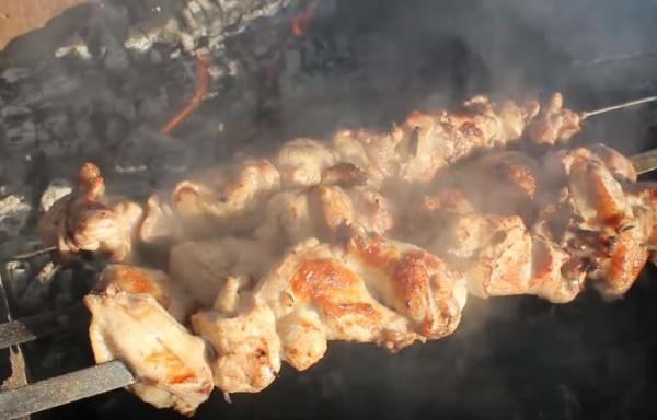 шашлык из курицы 3 жарим