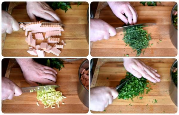 окрошка на сыворотке 5 нарезаем продукты 2