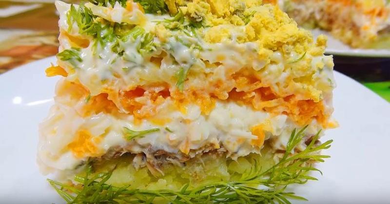 Салат мимоза поваренок