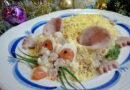 Салат в виде крысы (мышки) на Новый год 2020
