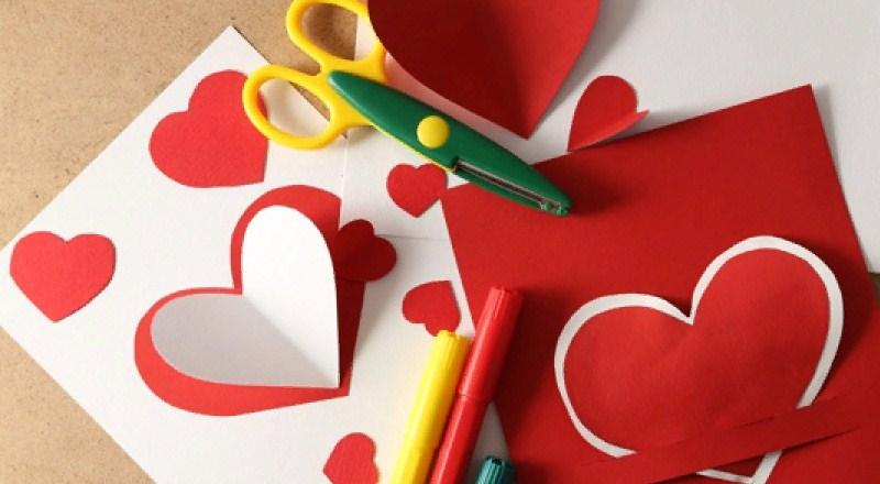 Валентинки своими руками из бумаги + шаблоны для распечатывания