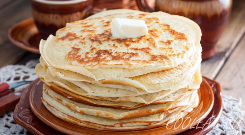 Блины на кефире — простые рецепты с дырочками